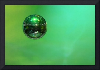 Mirror ball, background, green