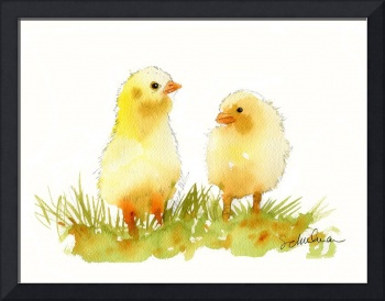 chicks | watercolor | bird art |Spring Fling