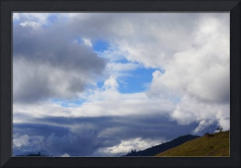 Blue Sky art prints White Clouds Weather Landscape