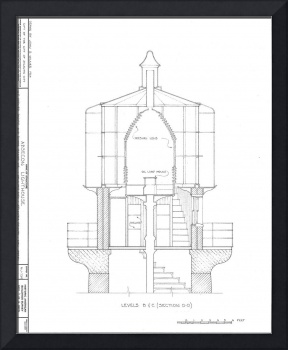 Stunning blueprints drawings and illustrations for sale on framed absecon lighthouse blueprint malvernweather Choice Image