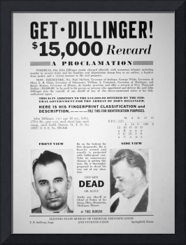 Reward Poster for John Dillinger