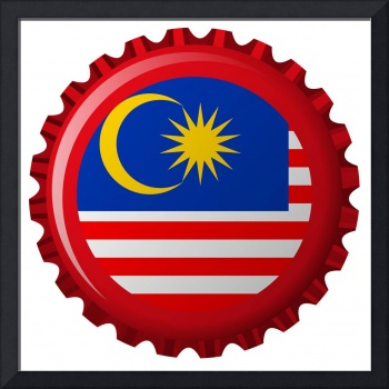 malaysia abstract flag on bottle cap