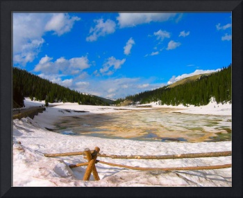 Snow Pond Vibrant Colors Rocky Mountains 8X10