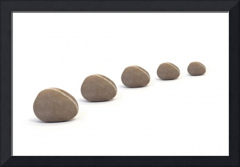 Five Calm Smooth Pebbles