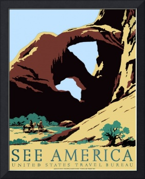 Vintage See America WPA Southwest America Arches
