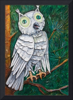 green eyed owl