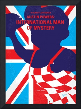 No373 My Austin Powers I minimal movie poster