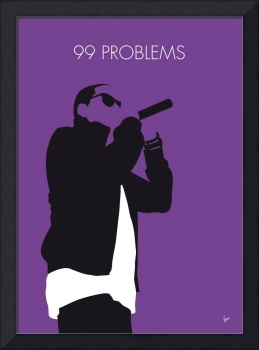 No101 MY Jay-Z Minimal Music poster