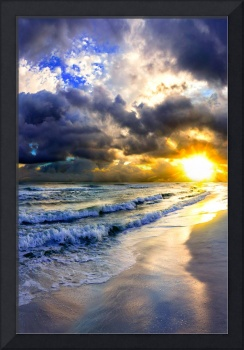 amazing-sunset-on-canvas-blue-ocean-skyscape-