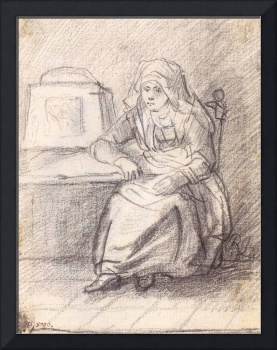 Woman Seated by the Stove