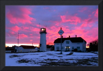Chatham Lighthouse in Winter