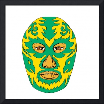 Luchador Mask Flame Fire Bolt Drawing
