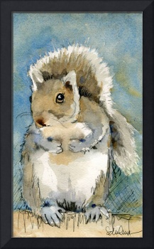 Animal Art | watercolor | Tilly the Squirrel