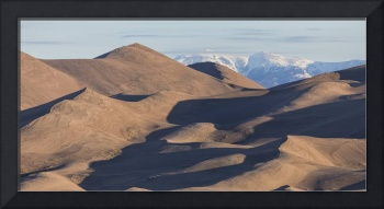 Sand Dunes And Rocky Mountains Panorama