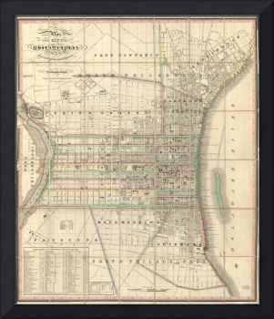 Vintage Map of Philadelphia Pennsylvania (1830)