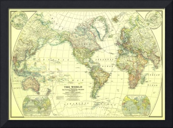 Vintage Map of The World (1922) 2