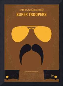 No459 My Super Troopers minimal movie poster