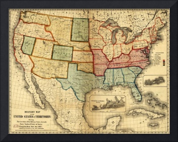 Map of the United States (1861)