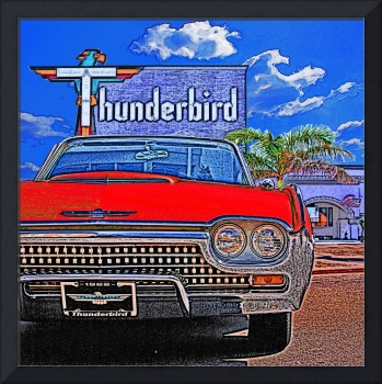 1962 Ford Thunderbird at Thunderbird Motel - Red