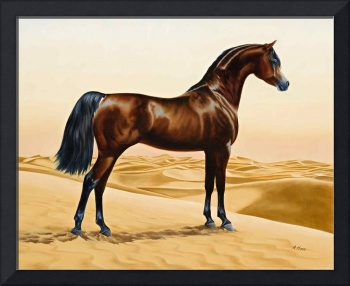 Arab_horse_painting_animals_arabian_ainting_by_Wil