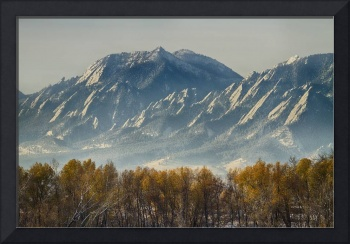 Boulder Colorado Flatirons Autumn View