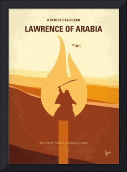 No772 My Lawrence of Arabia minimal movie poster