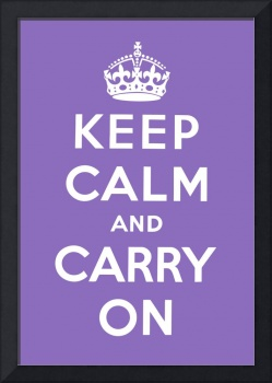 Purple Keep Calm And Carry On 2