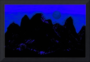 Moon Glow Over The Cascades  1