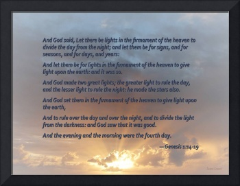 Genesis 1:14-19 ... Let there be lights