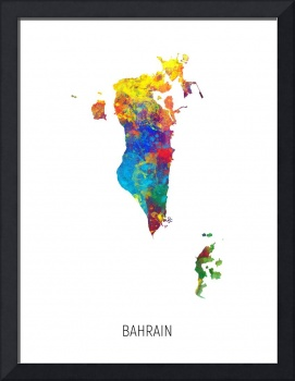 Bahrain Watercolor Map