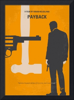 No854 My Payback minimal movie poster
