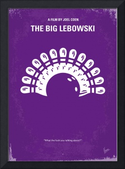 No010 My Big Lebowski minimal movie poster