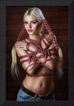 hair bondage - 2 braids - Fine Art of Bondage