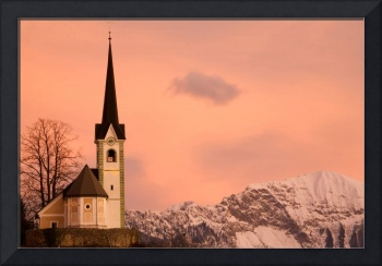 Tabor church at sunrise