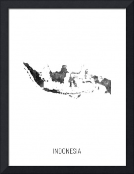 Indonesia Watercolor Map