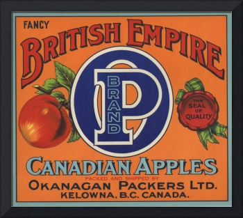 British Empire Fruit Crate Label