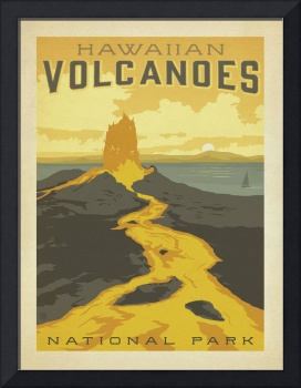 Volcanoes National Park, Hawaii - Retro Travel Pos