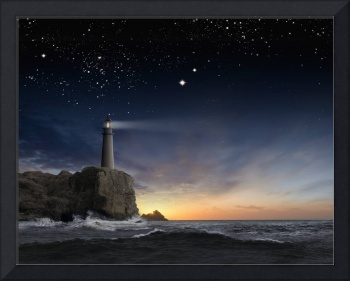Lighthouse-Under-Stars