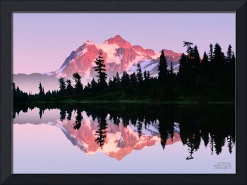 SUMMER GLOW ON MOUNT SHUKSAN