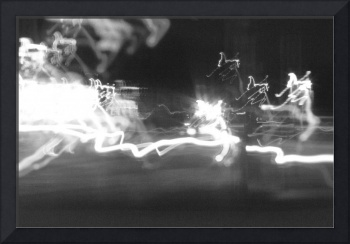 abstract light painting at the intersection with c