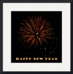 Fireworks New Years Card  by Jacque Alameddine