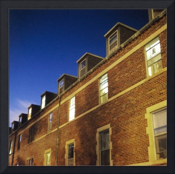 Mason Hall At Night