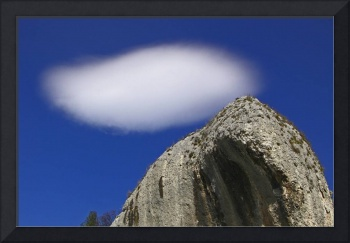 cloud and rock
