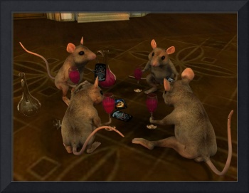 Mouse Ball - Card Players
