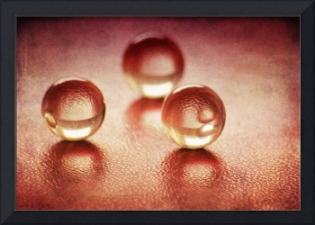 Glass Spheres on red