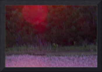 Red Sun over Violet Water