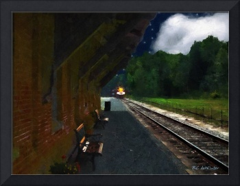 Thomaston Train at Night
