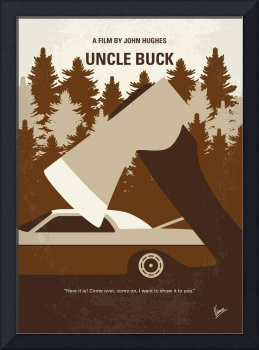 No818 My Uncle Buck minimal movie poster