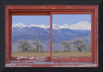 Rocky Mountain Front Range Red Picture Window Fra
