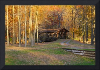Rustic Autumn Covered Bridge Southern Tier NY